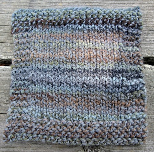 Puddles plied with Slate Blue