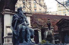 Neptune Looking Out (akki14) Tags: film cemetery montmartre expired finetta88 kodakkodacolor
