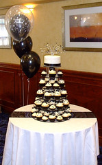 black and white wedding cupcakes (sweet bakery) Tags: birthday ireland wedding party cakes cookies cake kids silver children hearts cupcakes photo sweet anniversary contemporary character traditional belfast sparkle celebration novelty cupcake bakery graeme childrens northern sparkly retirement finlay diamonte childrens kids