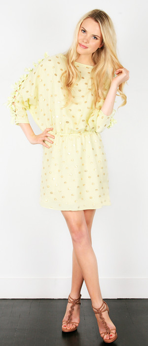 THREAD_RESORT2011_01%202-honeydew polkadot bow sleeve dress