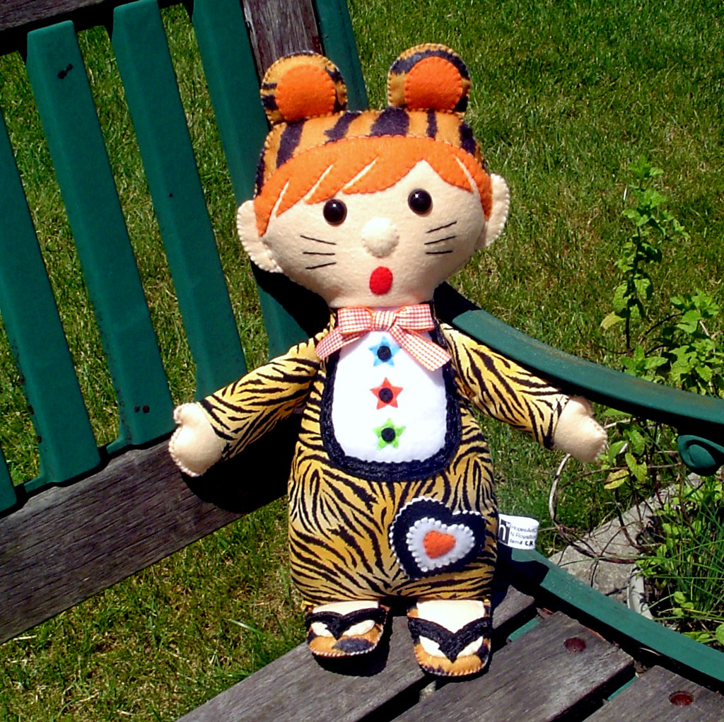 """Costumed Kids"" boy doll in tiger outfit"