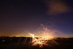 Sparks (Luke_23) Tags: longexposure light art wool night canon dark graffiti wire paint nocturnal time burning 7d dslr slowexposure art solsburyhill light painting graffiti stream