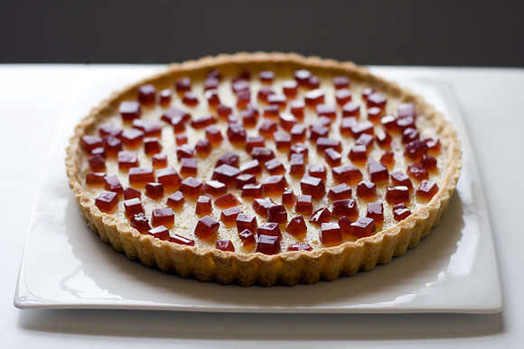 Lemon Tart w/ Pomegranate Gelee