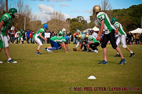 The Claremont Jets put on a football display for the crowd