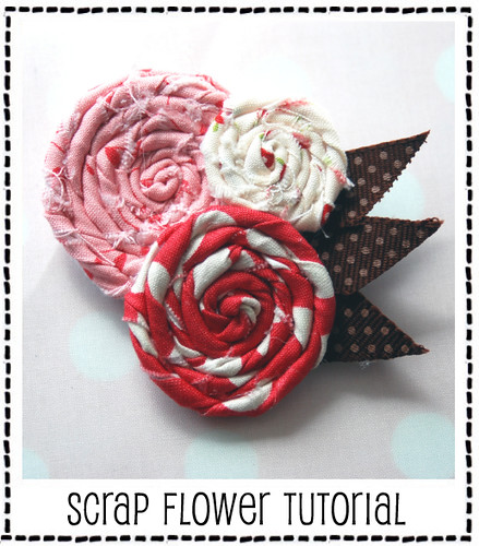 Scrap Flower Tutorial