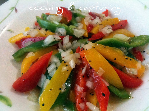 Colorful Peppers and Onions @ Food: Cooking and Capturing