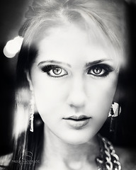 Into her eyes (_Paula AnDDrade) Tags: portrait white black glass girl face wow eyes doll gorgeous lips explore stare boneca gaze