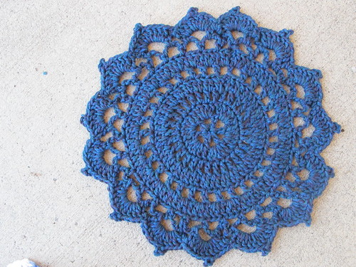 Doily dishcloth in navy
