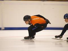 Shorttracktraining NTS-JOOP (NLHank) Tags: sport speed training action olympus e3 zuiko oranje jong actie speedskating thialf nts shorttrack 50200 knsb zomerijs opleidingsploeg shorttracktraining
