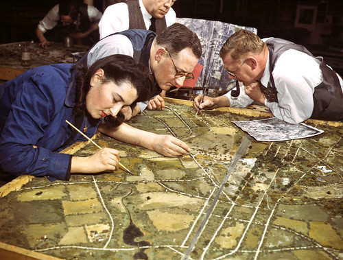 WW2- artists at war- relief maps