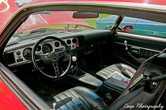 Interior Of A '78 Firebird (Coop Photography) Tags: show old red classic car june photography washington nikon track 26 firebird wa coop pontiac 1978 decal washtucna tapes 78 v8 2010 8track d90 66l