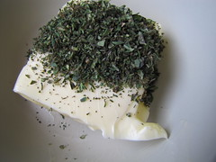 making herbed butter