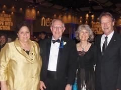 Sherri Wood, Tony Stewart, Barbara Crow, and Marty Meyer at the 2010 NEA Human and Civil Rights Awards