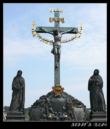 The Crucifix and Calvary on Charles Bridge