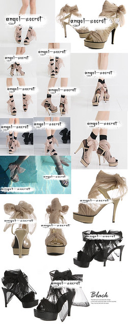 SH10《检察官公主》韩版女鞋甜美淑女飘丝网布防水台高跟凉鞋