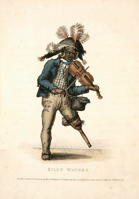 001-Billy aguas-personaje famoso en Londres -Costume of the lower orders of London 1820- Lord  Thomas Busby
