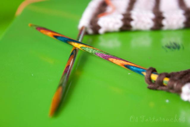 agujas de colores