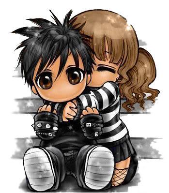emo love cartoons cartoon. Cute emo love cartoon