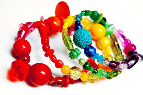 rainbow spring bracelet