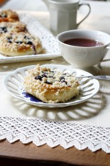 blueberry rolls (..Ania.) Tags: four blueberries streusel yeastbread yeasteddough blueberryrolls