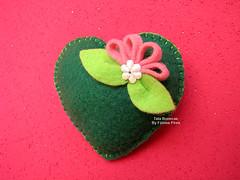 Coração em feltro (Tata Bonecas) Tags: me by doll heart handmade felt made coração feltro boneca matrioska