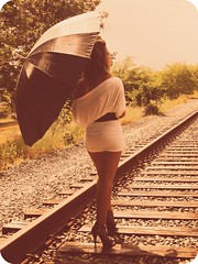 We'll Never Be Strangers Kissing In The Pouring Rain Chasing After Your Leaving Train (inspire*dream*create*) Tags: umbrella lyrics song traintracks tsc route18 oursong thespillcanvas newbedfordmassachusetts