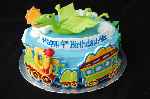 Dinosaur Train Birthday Cake - front