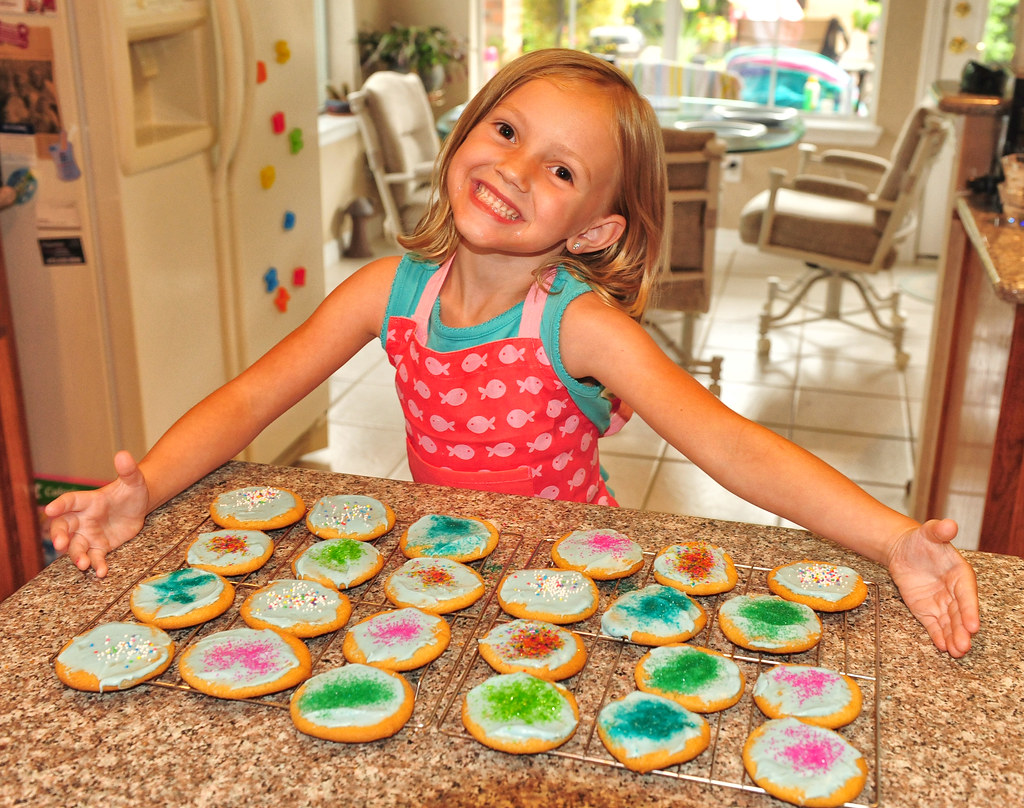 A Happy 5 Year Old Cookie Decorator