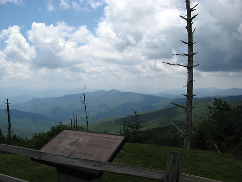Looking out over the Smokies