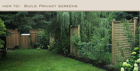 Aubrey & Lindsay's Little House Blog: DIY - Privacy Screens, How ...