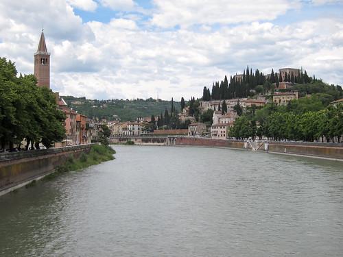 Adige river, Verona