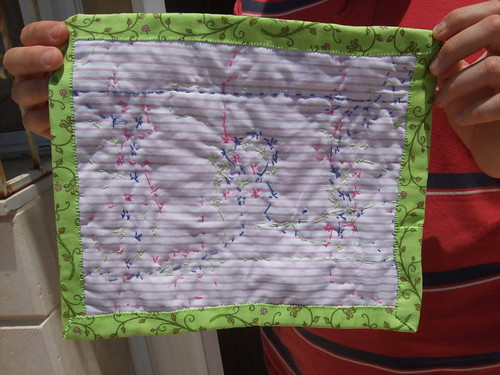 back of second quilted tablemat