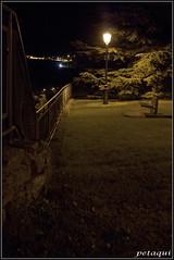 Solitario (Petaqui) Tags: españa noche huesca banco paseo nocturna aragon solitario cantera compañia jaca