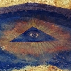 esoteric (mypixbox) Tags: blue italy eye church dark triangle sannicola god sicily agrigento valledeitempli esoteric img6372