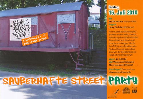 Sauberhafte Street Party Flyer