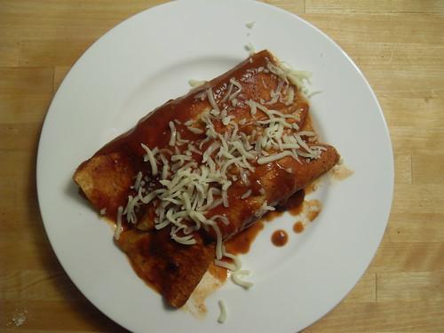 Zucchini Bean Enchiladas