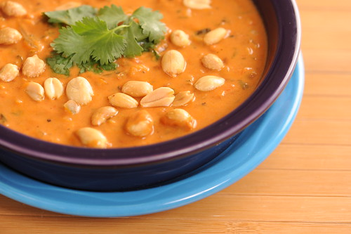 Roasted Hazelnut Sauce and African Peanut Soup