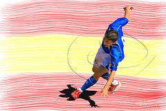 o - o - o - o  (Cani Mancebo) Tags: blue red espaa yellow azul word football rojo soccer champion player amarillo bandera mundo ftbol campeones unai