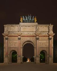 Arc de Triomphe du Carrousel (Erik Pronske) Tags: paris france architecture night memorial arch historical tuileries arcdetriomphe carrousel jardinducarrousel champsélysées arcdetriompheducarrousel champsélysée