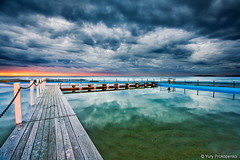 Ready for Morning Swim (-yury-) Tags: morning sky water pool rock sunrise landscape sydney dramatic australia nsw narrabeen supershot abigfave sescape