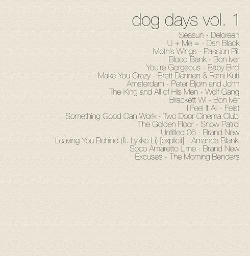 dog days vol. 1 tracklist