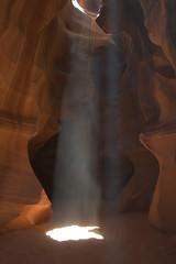 Shining like a beam (Mark & Tara) Tags: arizona usa southwest landscape carved sandstone wind flash az canyon page antelope navajo floods
