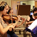 Lindsay Orr and viola string recording session at Grace
