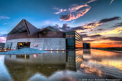 Tempe Center of the Arts (www.alexsommersphotography.com) Tags: city blue sunset arizona sky orange reflection water architecture clouds canon eos pond az 7d usm dslr tca efs hdr tempe 1022 tempetownlake photomatix tempebeachpark cs5 f354 uniquebuilding tempecenterforthearts topazadjust wwwalexsommersphotographycom