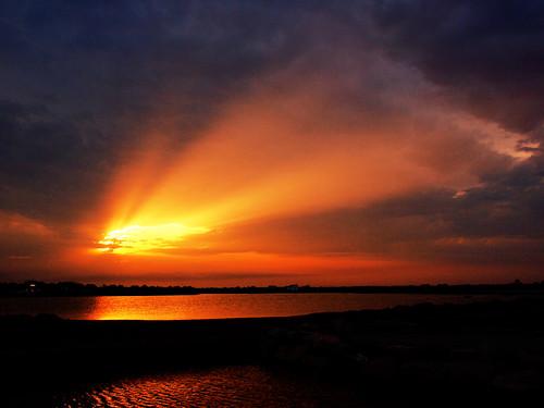 sunset before the rain