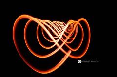 The Outer Limits (ripleymb) Tags: longexposure light orange lightpainting sc night flow design nikon nightshot southcarolina georgetown swirl nikkor curve d90 nikond90