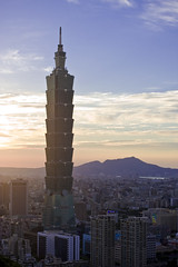 Taipei 101 (willteeyang) Tags: sunset taiwan taipei101    101  mtelephant sigma50mm14 colortemp
