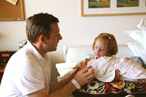 Elsie holding Silas