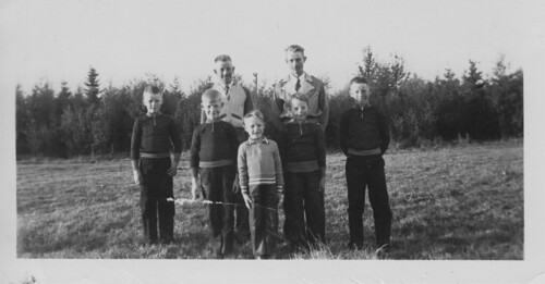 The Cave Brothers, Winterbourne Alberta, circa 1944.