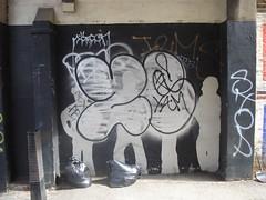 Zerx (RegularOne) Tags: road graffiti high tag bin bags graff kilburn nw6 10foot